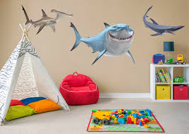 finding nemo sharks wall decal shop fathead for finding nemo decor finding nemo sharks fathead wall decal