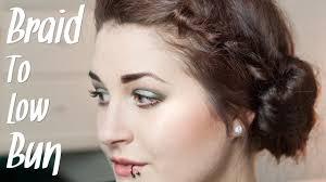 Hochsteckfrisurenen D Ne Haare by Frisuren Für Dünne Haare Braid Low Bun Flechtfrisur Und Dutt