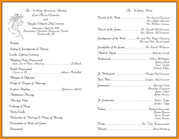 wedding program layout template wedding program sles template gallery of things