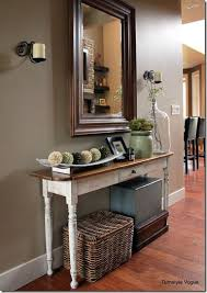 Foyer Table Decor Lovely Ideas For Console Table With Baskets Design 17 Best Ideas