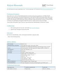 Sap Bo Resume Sample by Bidyut Bhowmik Resume Sap Bw Bo Hana 9 Years