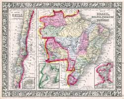 Old Map South America by Large Scale Old Political Map Of Brazil Bolivia Paraguay