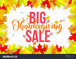 thanksgiving sale web banner big seasonal stock vector 732417208