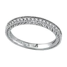 14k white gold wedding band 14k white gold 31ct diamond wedding band ring