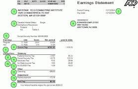 adp pay stub template free template idea