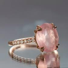 verlobungsringe individuell rosenquarz ring ovale verlobungsring 375 carat vividgemsonetsy