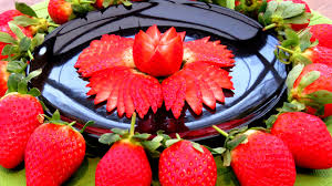 how to make strawberry flowers vegetable carving garnish sushi