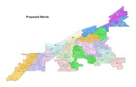 Map Of Northeast Ohio by Cleveland City Council U0027s New Ward Map Released Downtown