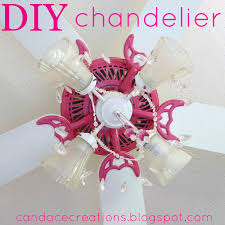 candace creations pink ceiling fan chandelier makeover home