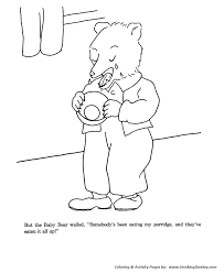 goldilocks and the three bears coloring pages goldilocks ate