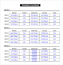 Workout Excel Template Exercise Schedule Template 7 Free Word Excel Pdf Format