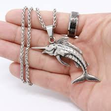 wholesale animal necklace images Stainless steel beak shark pendant necklace men jewelry sea animal JPG