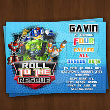 Rescue Bots Favors by Rescue Bots Invitation Rescue Bots By Lovebuggydesigns
