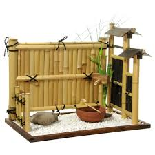 oriental furniture zen bamboo mini rock garden