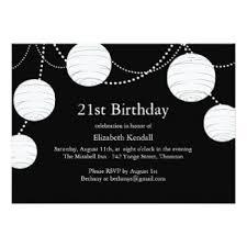 black and white 21st birthday invitations u0026 announcements zazzle