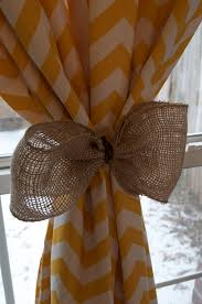 Diy Burlap Curtains Cool Yellow Chevron Curtains Patterns And Burlap Curtain Tie Backs