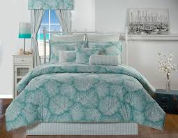 Beachy Bed Sets Tybee Island Coral Turquoise Coastal Bedding Comforter