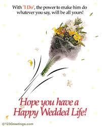 wedding wish card you a happy wedded greeting card