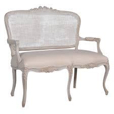 vignette white washed french rattan sofa