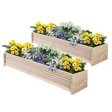Long Planter Box by Wood Window Boxes Pots U0026 Planters The Home Depot