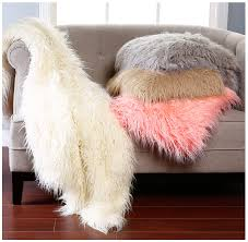 Faux Fur Throw Pillow Lamb Faux Fur Throw 58x84 Blanket