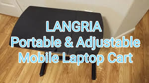Laptop Desk Cart by Langria Portable U0026 Adjustable Laptop Cart Mobile Computer Desk
