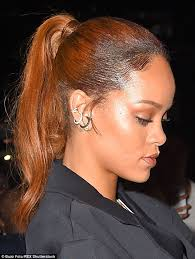 rihanna hoop earrings rihanna goes braless in an unbuttoned shirt dress for nyc day out