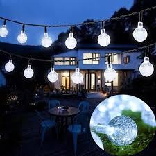 outdoor string lights solar outdoor appealing solar globe christmas string lights 8 mode