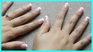 quick press on french manicure tutorial impress nails demo