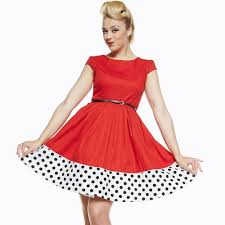 tessie red rockabilly swing dress vintage style lindy bop