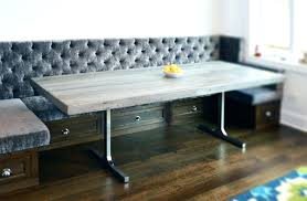 benches rustic dining table with benches furniture modern room