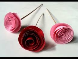 wedding flowers gift diy easy rolled paper roses for mothers day birthday gift