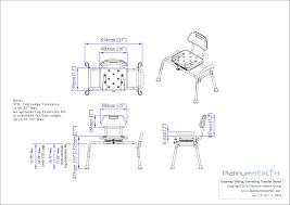 platinum health gateway premium sliding bath shower transfer bench