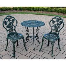 Wicker Bistro Table And Chairs Vintage Patio Bistro Table Chairs Wrought Iron Legs Rose Verdi