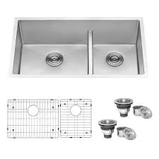 what size undermount sink for 33 inch base cabinet ruvati gravena undermount 33 in x 19 in stainless steel offset bowl kitchen sink