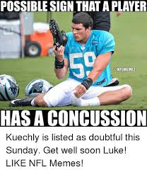 Luke Kuechly Meme - possible sign that aplayer onflmemez has a concussion kuechly is