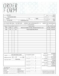 Order Sheet Template Pdf General Photography Sales Order Form Template Fillable Adobe