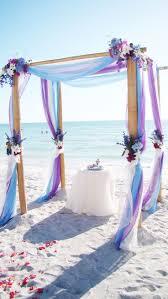 light blue and purple beach wedding arch jazzy u0027s gettin u0027 married
