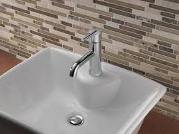 delta compel single hole single handle bathroom faucet with drain compel single hole single handle bathroom faucet with drain assembly and diamond seal technology