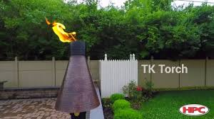 outdoor fire feature gas tiki torch youtube