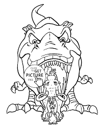 dinosaur from ice age coloring pages for kids printable free
