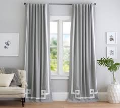 How To Hang Pottery Barn Curtains Bordered Appliqué Drape Pottery Barn