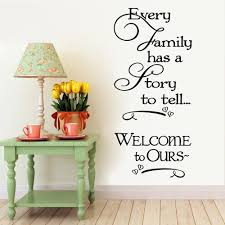 wall vinyl welcome to our family quote home decorative stickers removable