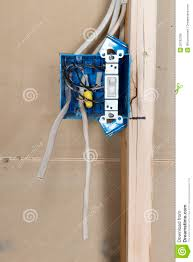 electrical home wiring outlet box stock photo image 29783796
