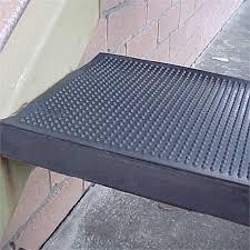 ideal diy floors 25 x 75cm black rubber stair tread bunnings