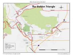 Map Of Denver Metro Area by The Golden Triangle Coloradobikemaps