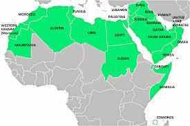 arab map arabicare the arab world