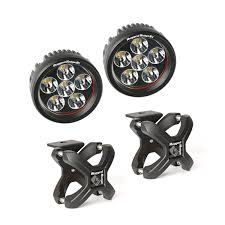 small round led lights rugged ridge 15210 41 x cl and round led light kit black 2 pieces
