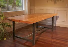 reclaimed wood table with metal legs barnwood dining table designs cole papers design elegant