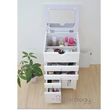 pink u0026 white mobile movable makeup organizer dresser cosmetic